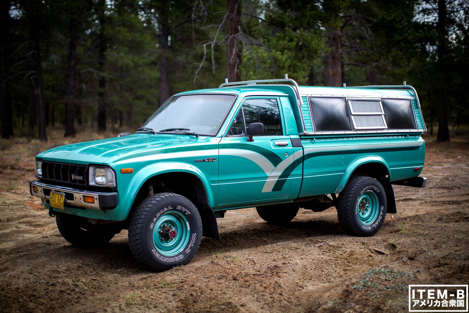 That Classic 80s Color Combo 1st Gen Toyota Pickup 4x4
