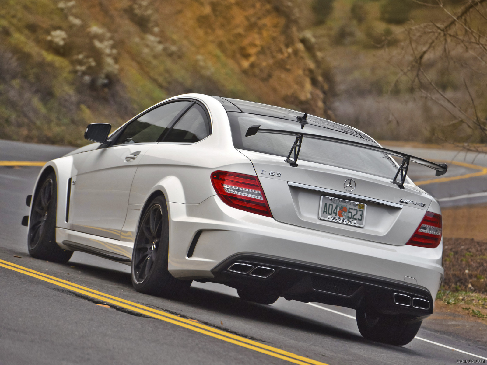 Mercedes benz c63 amg black series from behind the very for Mercedes benz build
