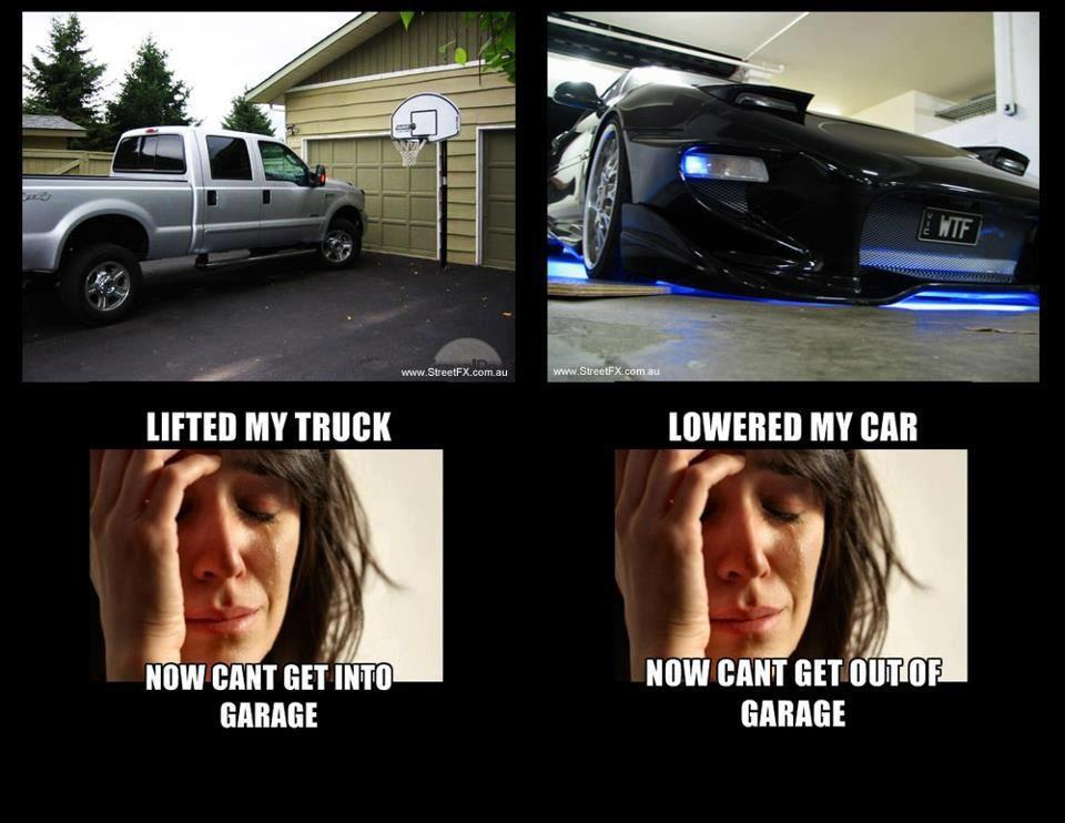 Lowered Car Problems