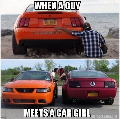 When A Guy Meets A Car Girl
