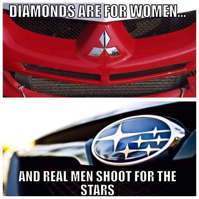 Real Men Shoot For The Stars Love Both Mitsubishi And