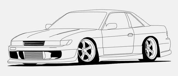 Mercedes Benz Cla Class Gallery also How To Draw A Muscle Car Dodge Challenger moreover Side View Vector Line Drawing Of A Nissan Gt R as well Car Coloring Pages together with Draw A Racing Car Funny Car. on muscle car drawings side view