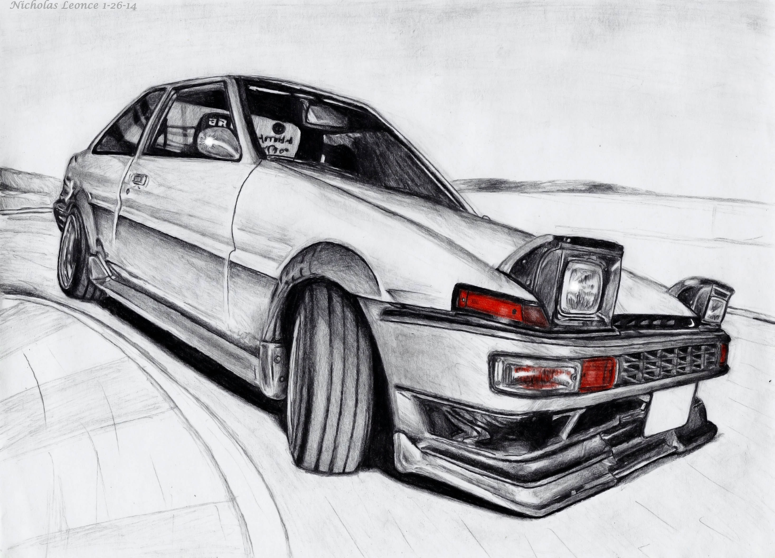 My Ae86 Drawing