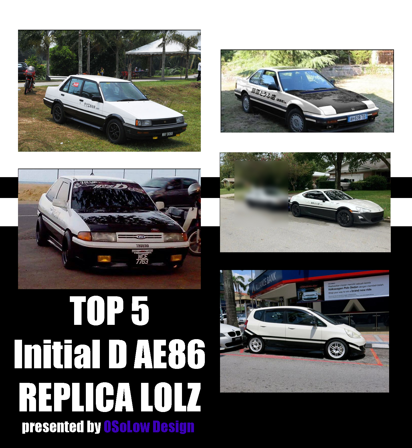 Top 5 Initial D Replica's That Aren't AE86's