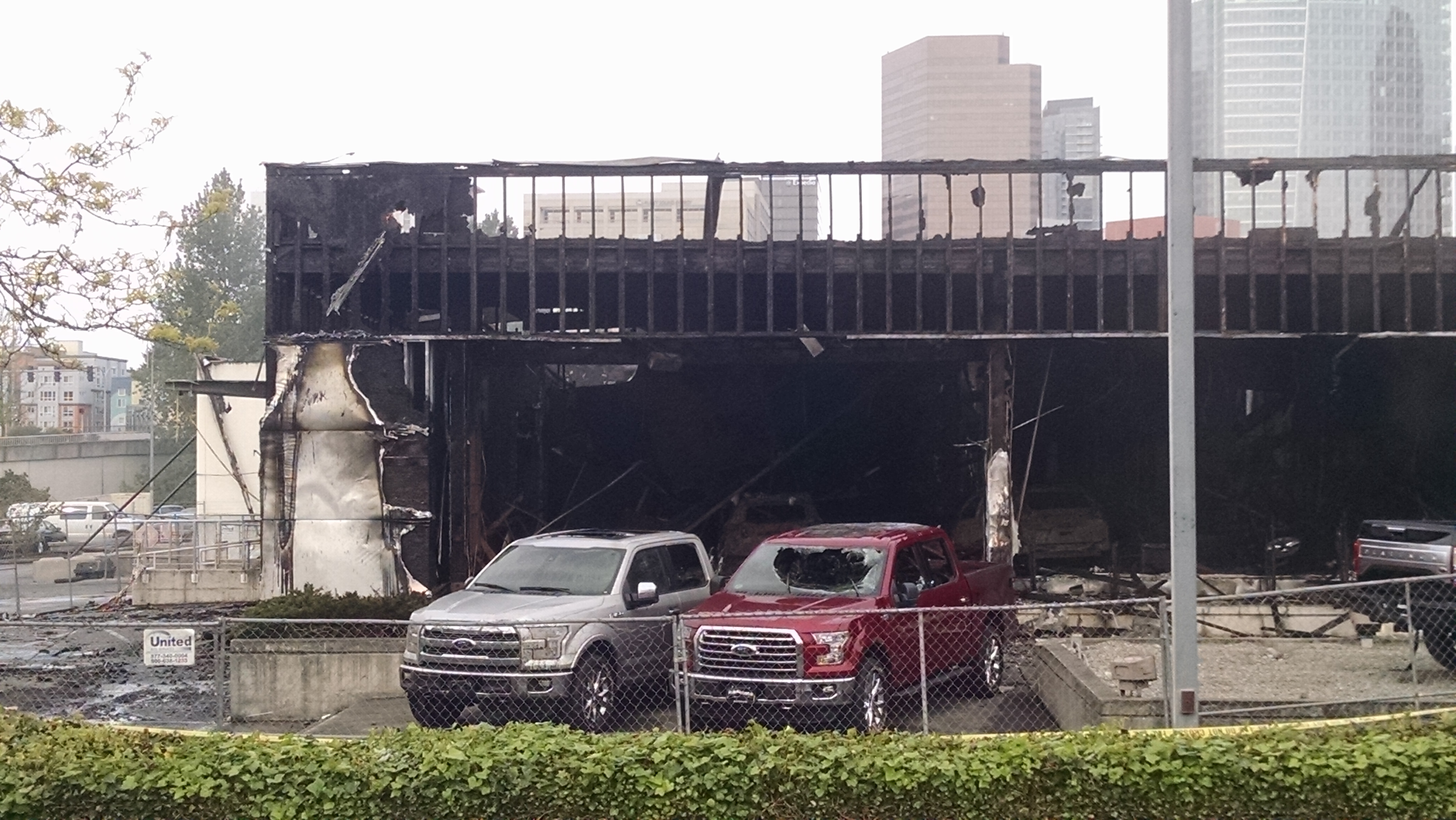 my local ford dealer burned to the ground more pics in the comments. Black Bedroom Furniture Sets. Home Design Ideas