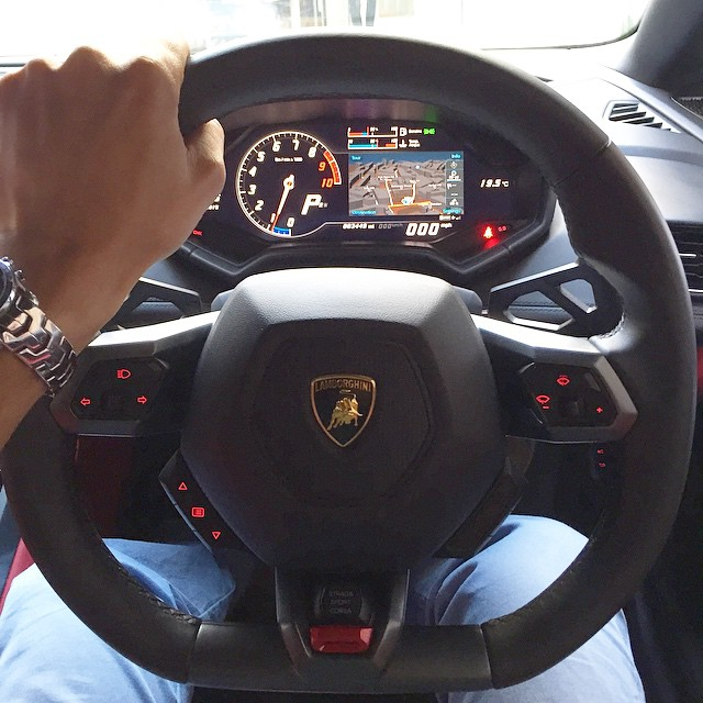 The View From The Cockpit Of A Lamborghini Huracan