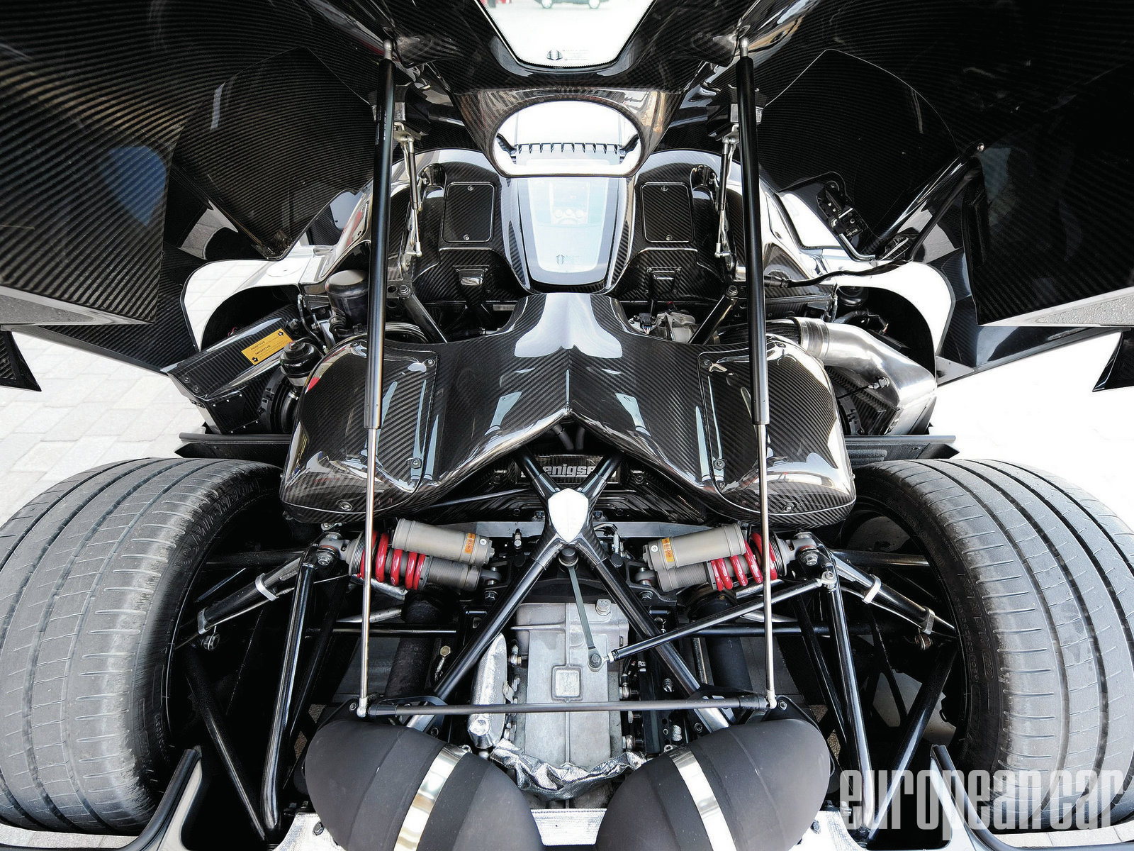 Koenigsegg Agera R Engine Bay