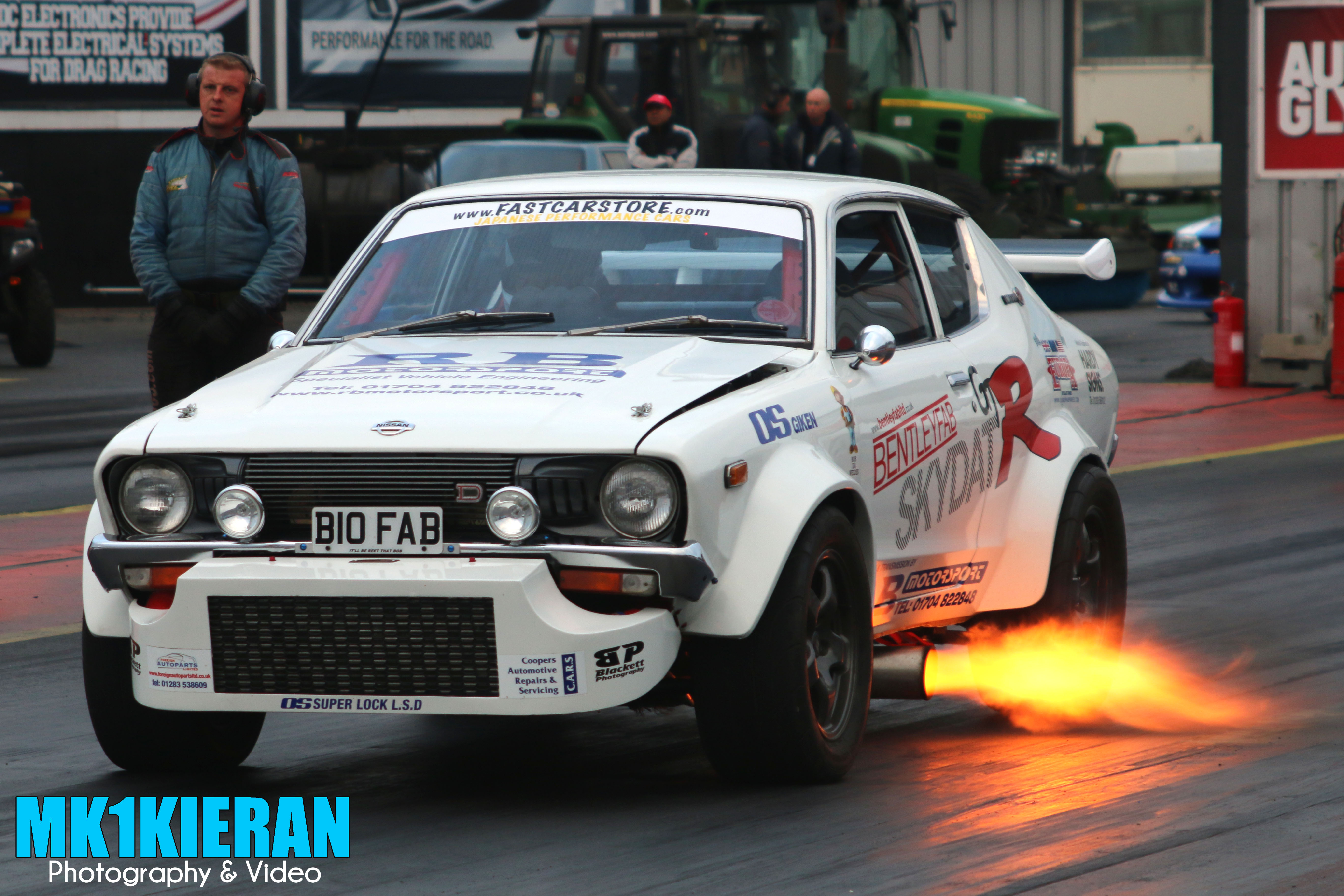 A shot of mine I took at the end of last year Datsun 120Y ...