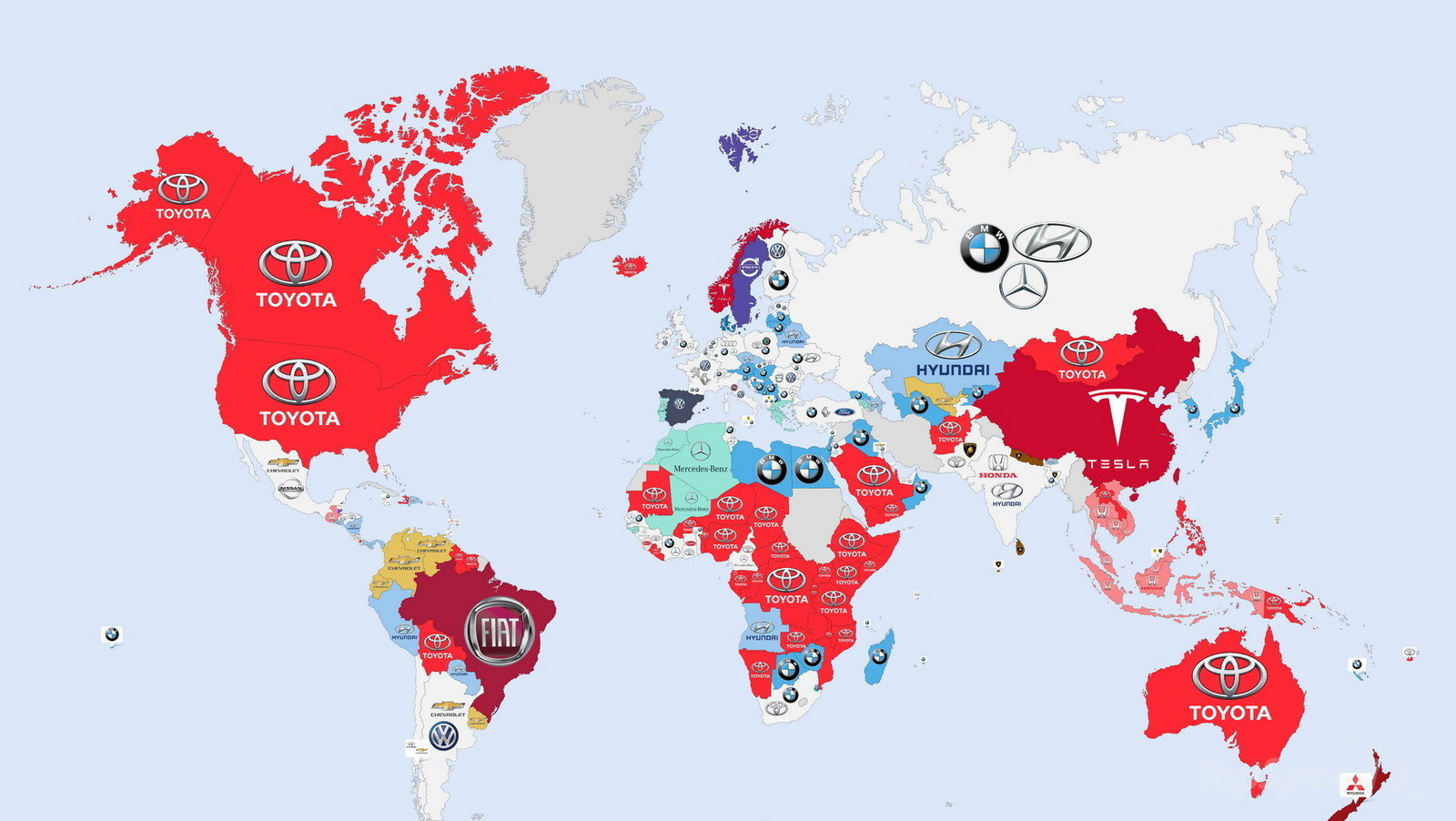 Here 39 S A World Map Showing The Most Googled Car