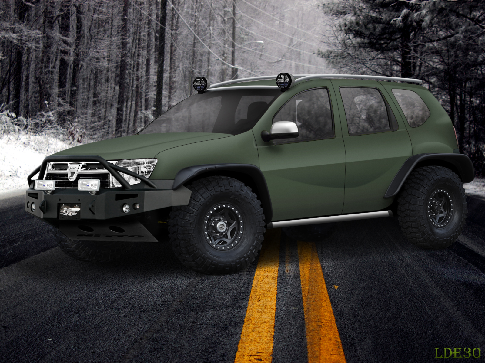 Virtual Tuning By Me Dacia Duster Original Photo In Comment