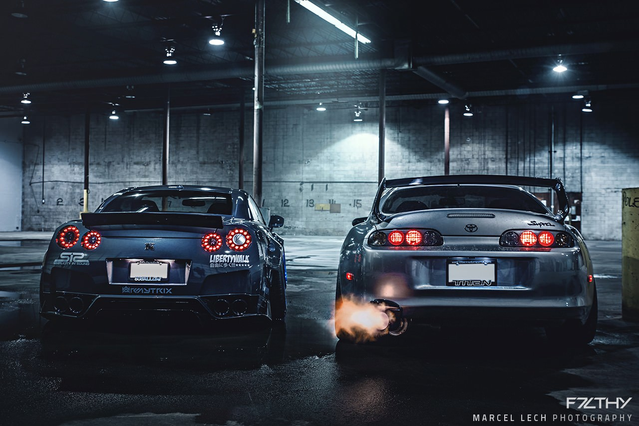Liberty Walk Gtr And A Mean Looking Toyota Supra