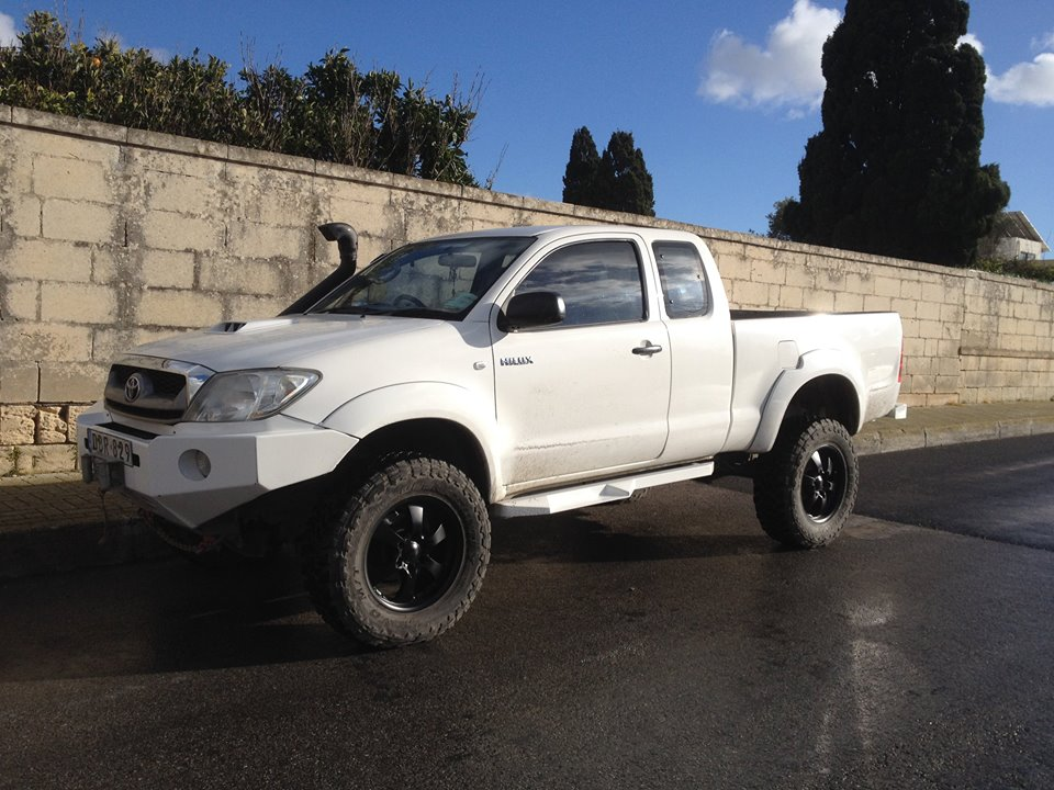 Toyota Hilux With Custom Made Side Skirts And Bumpers Such