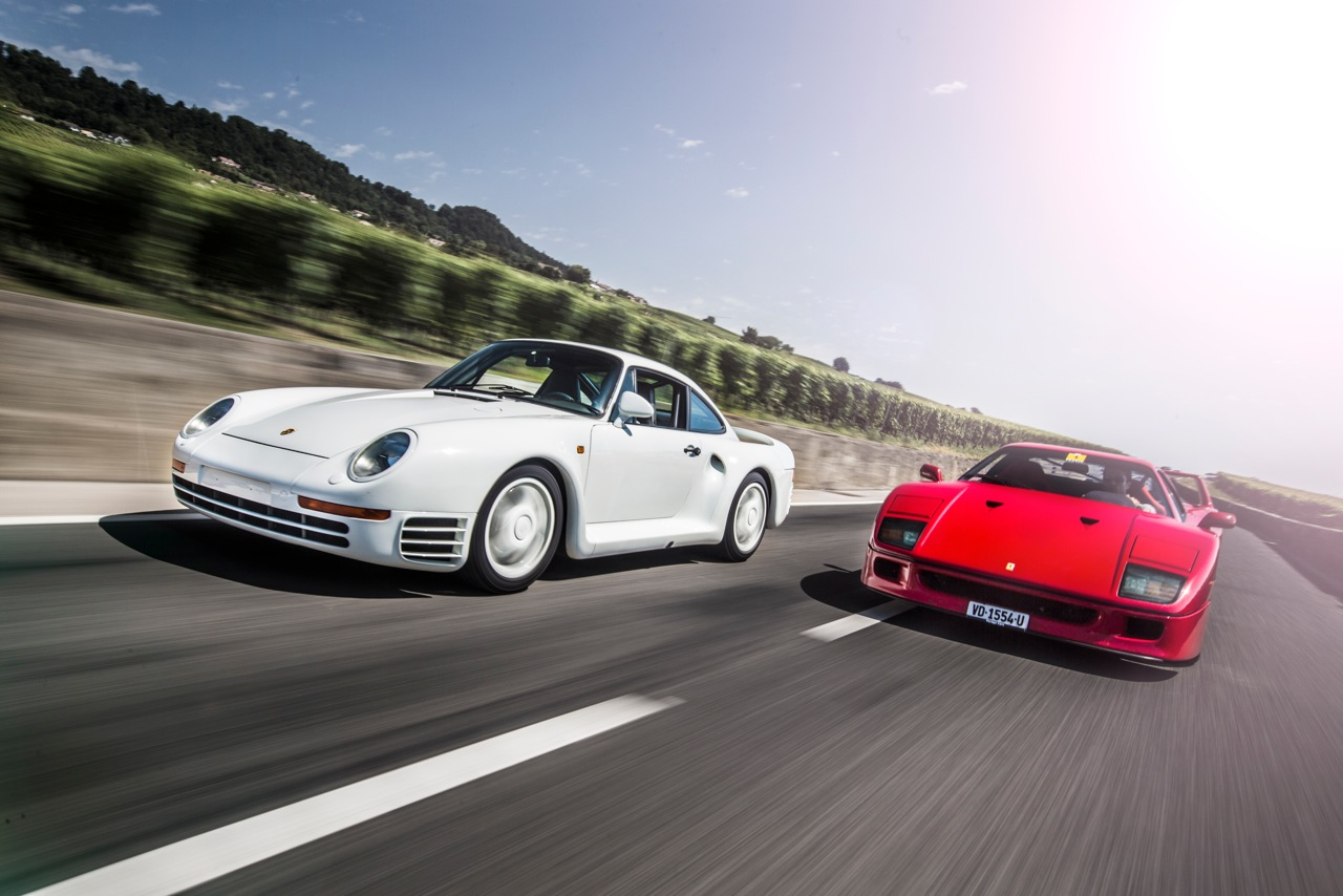 Porsche 959 And Ferrari F40 The Supercars That The Group