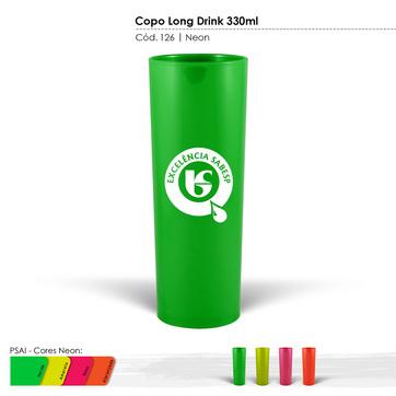 Copo Long Drink 330ml Neon 127