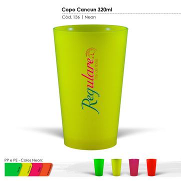Copo Cancun 320ml Neon 136