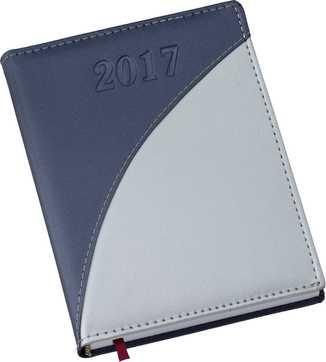 Agenda Capa Metalizada Azul com Prata 165L