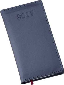 Agenda de Bolso Metalizada Lisa Azul 258L
