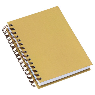Agenda Wire-o Metalizada Lisa Ouro 286L