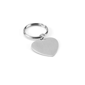 Chaveiro coração Alumínio 36x34x2mm 93159
