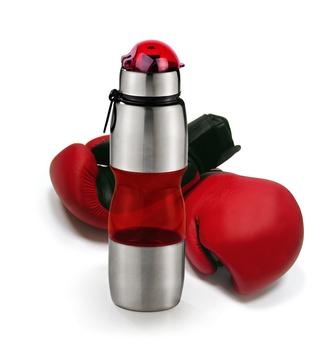 Squeeze Vermelho Revestido Em Aço Inox 12190