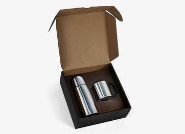 Conj. De Squeeze E Caneca Em Aço Inox 350/200 Ml- 2 Pçs 00401