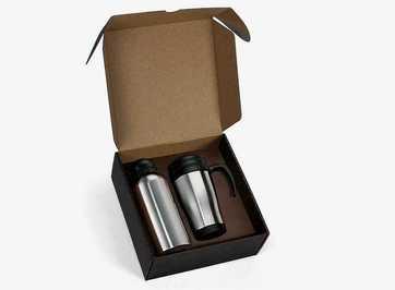 Conj. De Squeeze E Caneca Em Aço Inox - 2Ppçs 41601