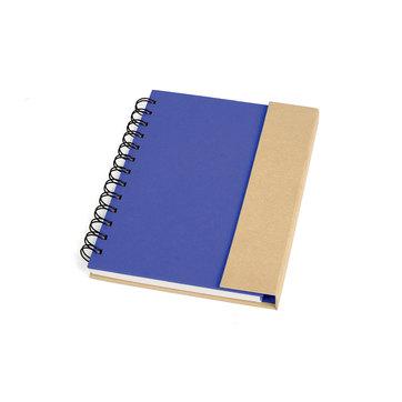 Caderno Espiral Capa Dura Azul/Bege 10103
