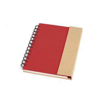 Caderno Espiral Capa Dura Vermelho/Bege 10104