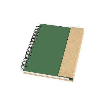 Caderno Espiral Capa Dura Verde/Bege 10105