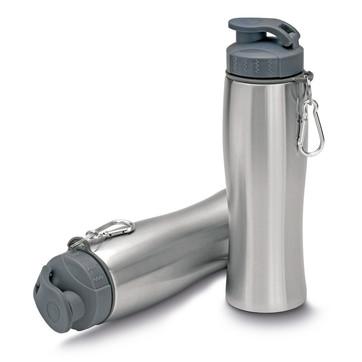Garrafa de aço inox 750 ml com mosquetão  GA0132