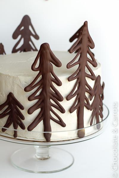 Chocolate Raspberry Forest Cake