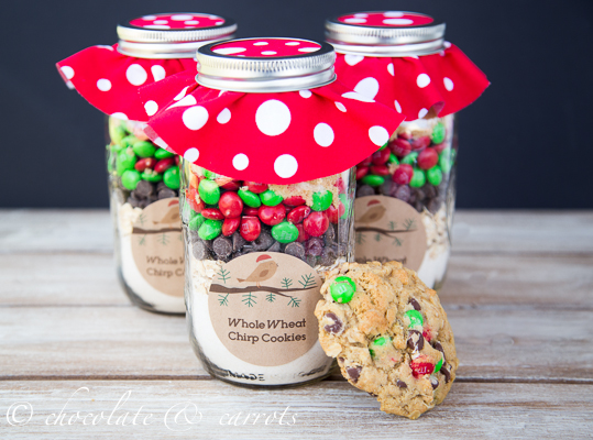Christmas Gift Cookie Mix In A Jar Chocolate Carrots