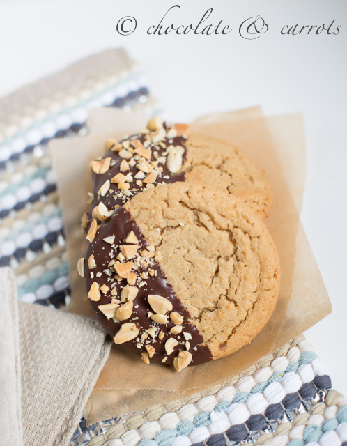 Chocolate Dipped Peanut Butter Cookies-1811