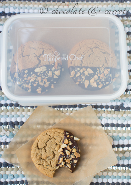Chocolate Dipped Peanut Butter Cookies-1828