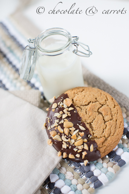 Chocolate Dipped Peanut Butter Cookies-1802