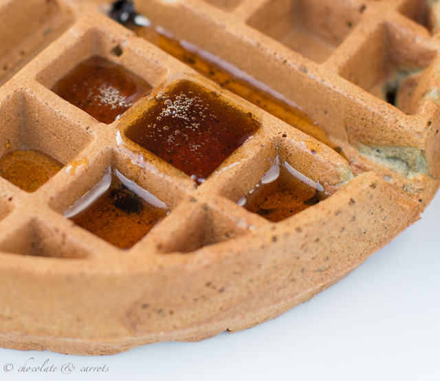 Easy Whole Wheat Waffles-4