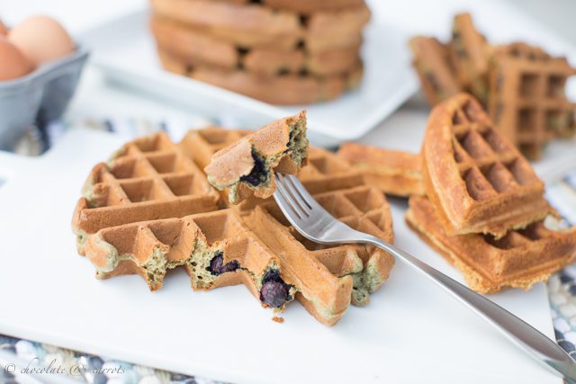 Easy Whole Wheat Waffles-5