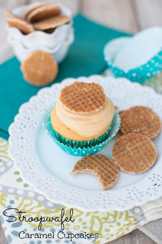 Stroopwafel Caramel Cupcakes