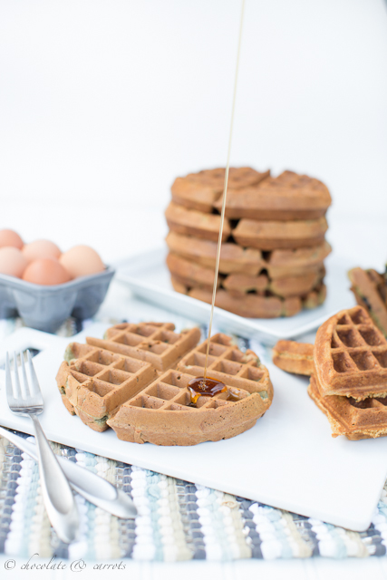 Easy Whole Wheat Waffles-3