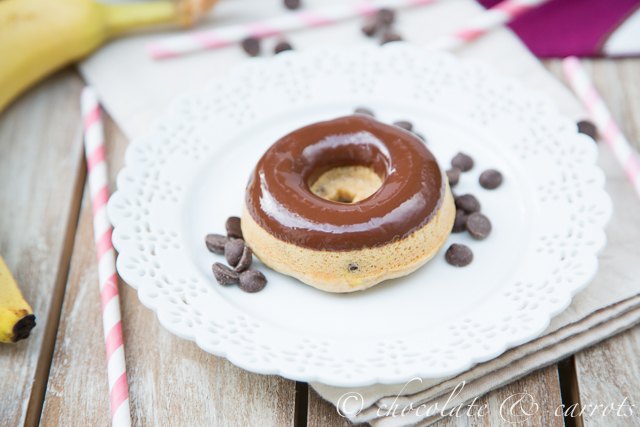 Whole Wheat Banana Chocolate Chip Baked Donuts-3153