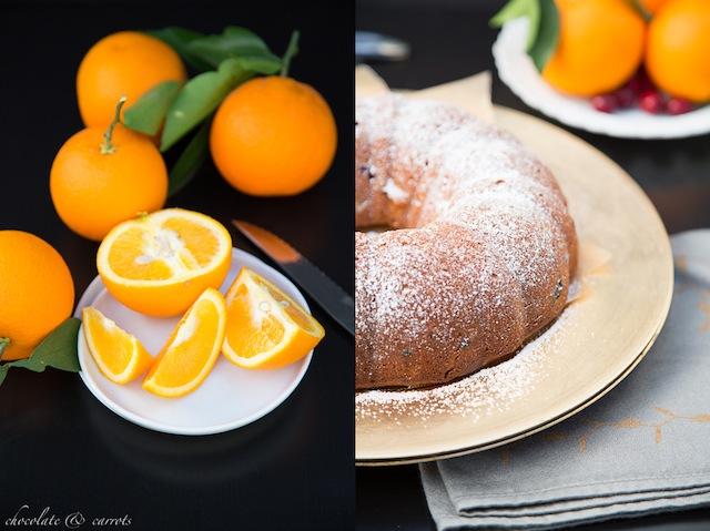 Whole Wheat Cranberry Orange Cake