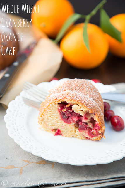 Whole Wheat Cranberry Orange Cake
