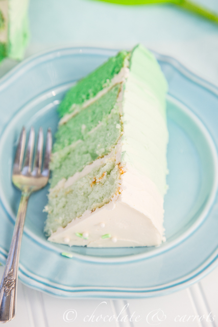 Green Ombre Cake-4