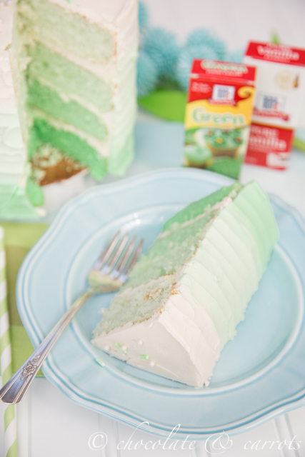 Green Ombre Cake-2