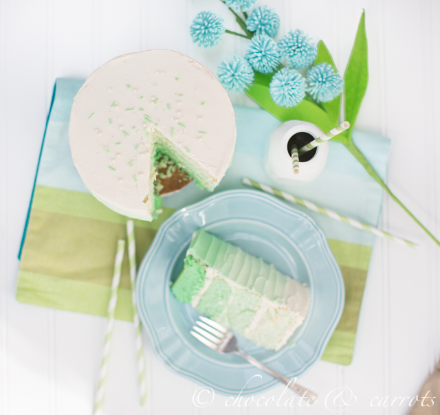 Green Ombre Cake-3