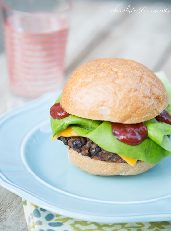 Homemade Black Bean Burger-3