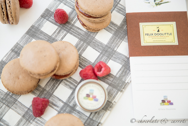 Chocolate Raspberry Macarons-5