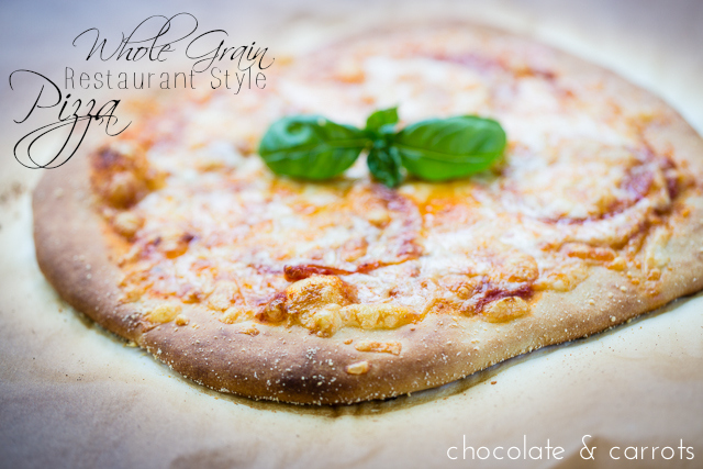 Whole Grain Restaurant Style Pizza | chocolateandcarrots.com