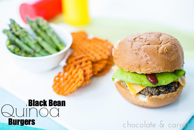 Black Bean Quinoa Burgers | chocolateandcarrots.com