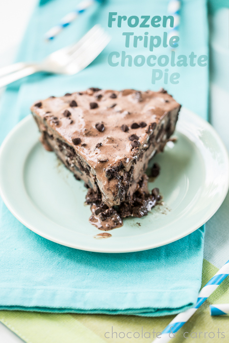 Frozen Triple Chocolate Pie